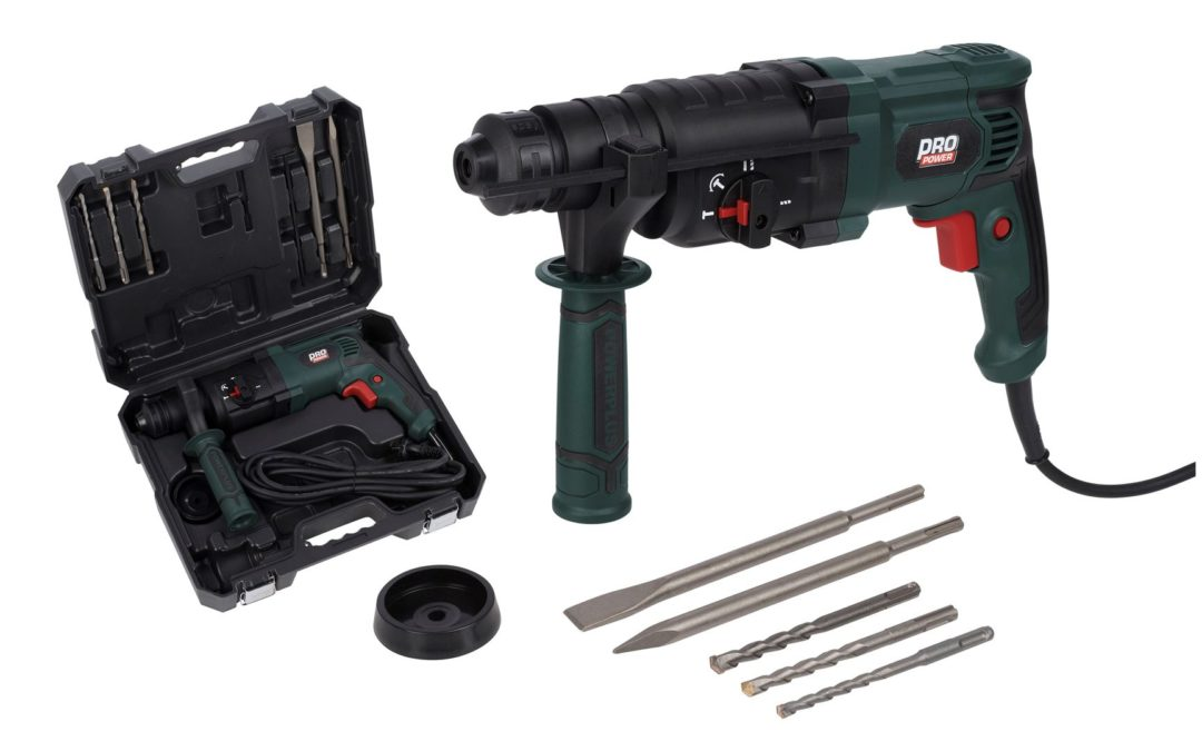 POWP3010 Borehammer 800 watt i kuffert Powerplus